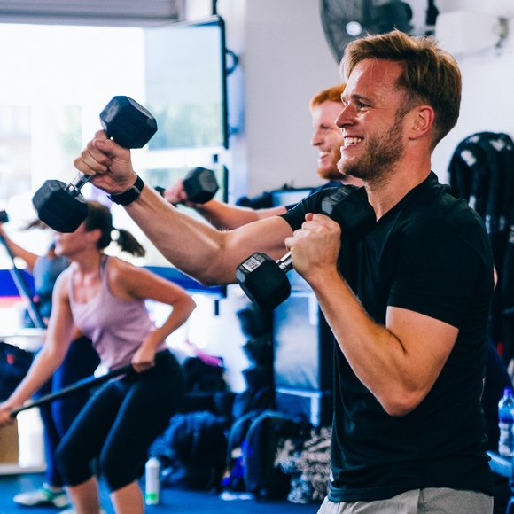 F45 olly murs working out